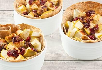 healthy apple-cranberrybake
