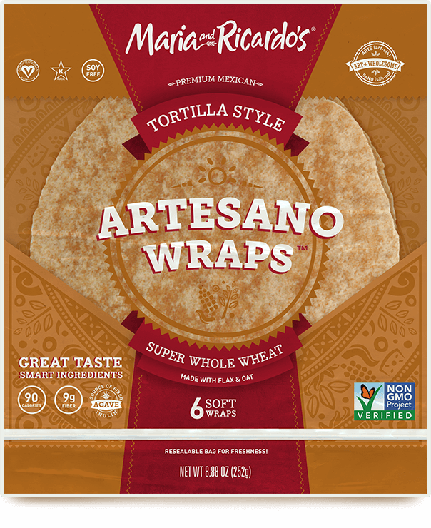 non-gmo gmo-free artesano super whole wheat tortillas