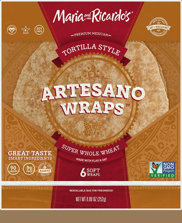 non-gmo gmo-free artesano super whole wheat tortillas