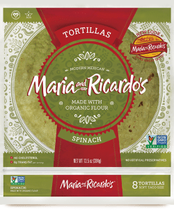 non-gmo gmo-free originals large spinach tortillas