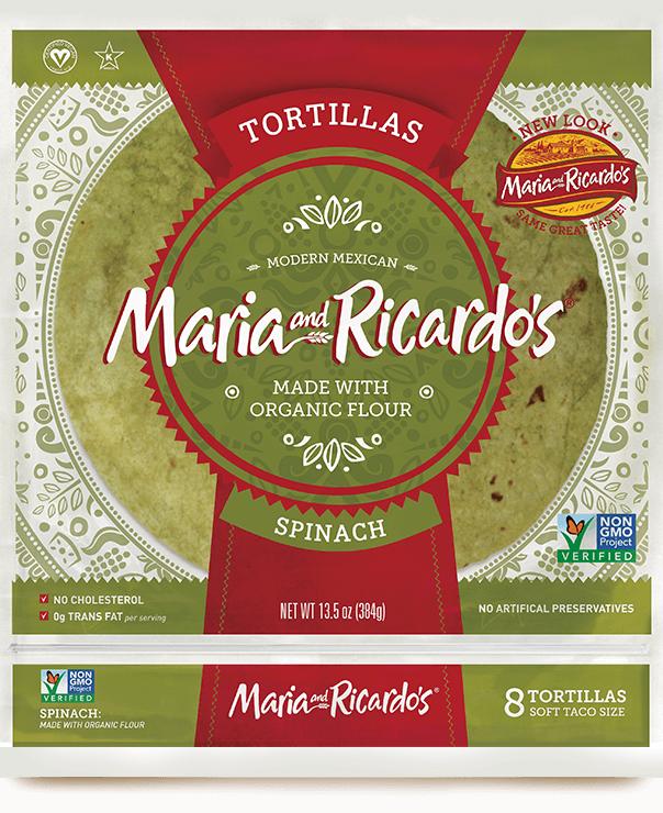 non-gmo gmo-free originals large spinach tortillas