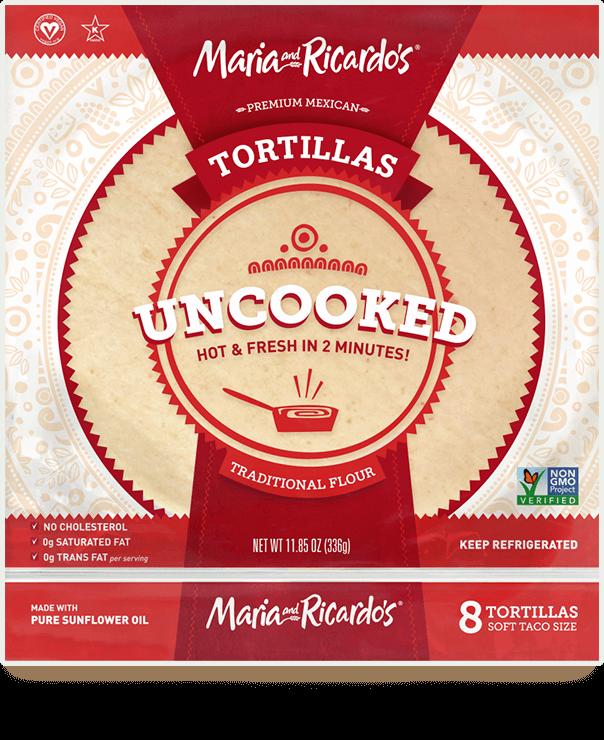 non-gmo gmo-free uncooked traditional flour tortillas