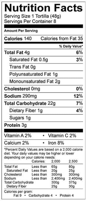 original tomato basil nutrition