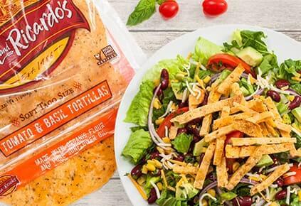 vegitarian tortilla salad