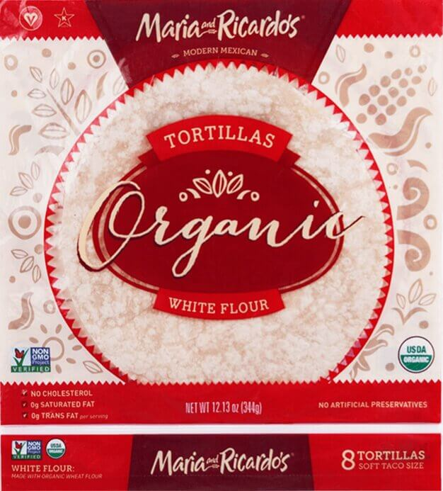 Maria and Ricardo's Organic White Flour Tortillas