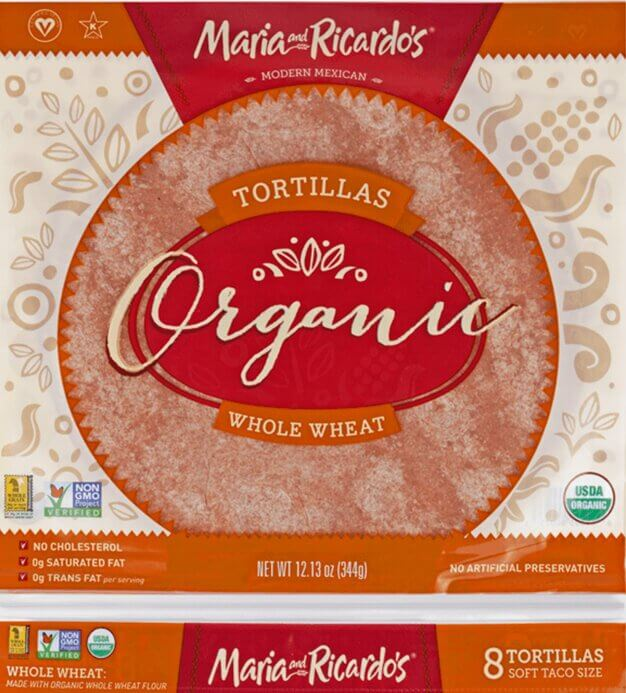 Maria and Ricardo's Organic Whole Wheat Tortillas
