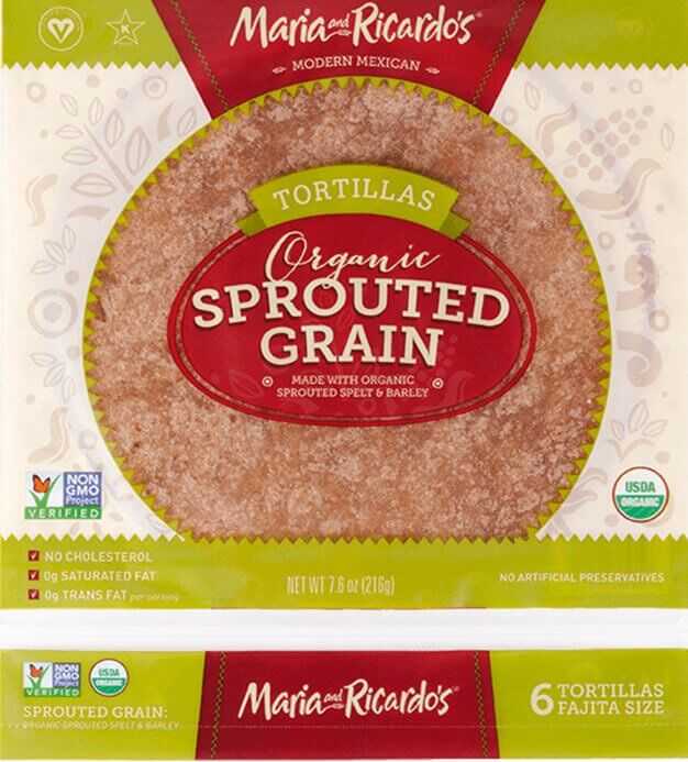 Maria and Ricardo's Organic Sprouted Grain Tortillas