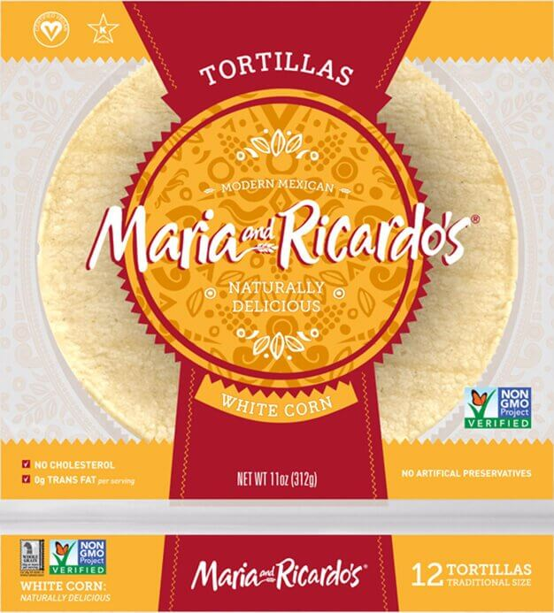 Maria and Ricardo's Organic White Corn Tortillas