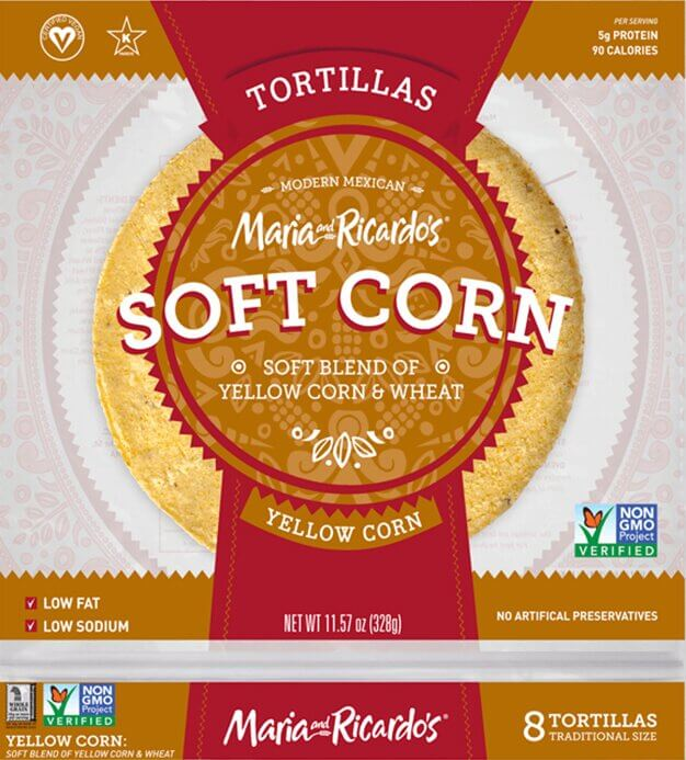 Maria and Ricardo's Yellow Corn Tortillas