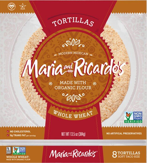 Maria and Ricardo's Whole Wheat Tortillas