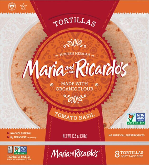Maria and Ricardo's Tomato Basil Tortillas