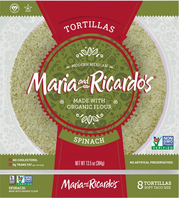 Maria and Ricardo's Spinach Tortillas