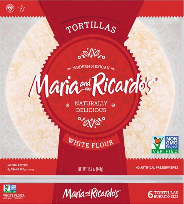 Maria and Ricardo's White Flour Tortillas, Burrito Size