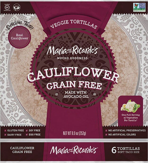 Maria & Ricardo's Grain Free Cauliflower Tortillas