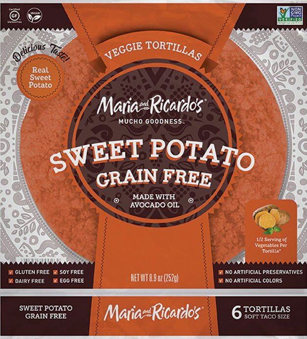 Maria & Ricardo's Grain Free Sweet Potato Tortillas