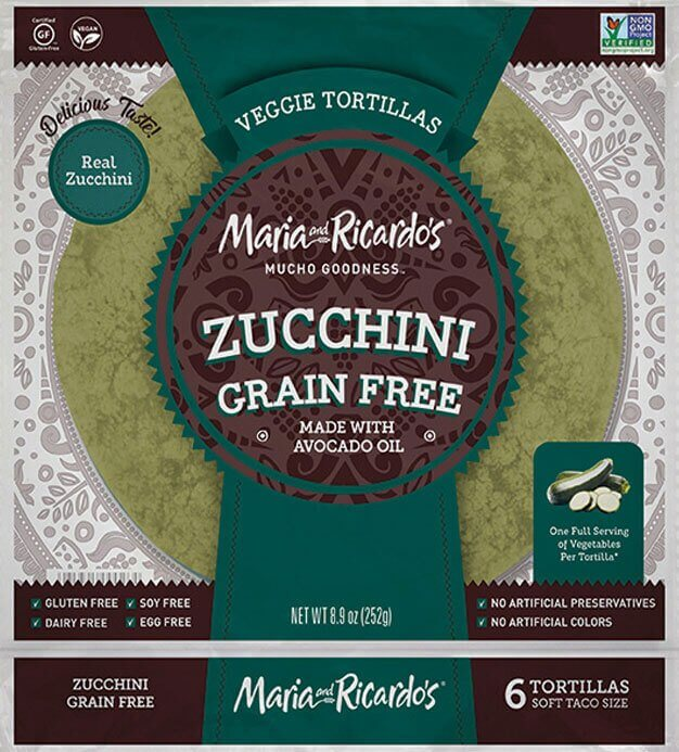 Maria & Ricardo's Grain Free Zuccchini Tortillas